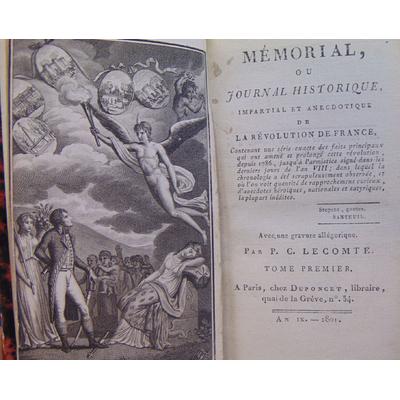 Lecomte  : Mémorial ou journal historique impartial et anecdotique de la révolution de France...