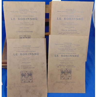 Bonneau Georges : Yoshino, Le monument poétique de Heian. (4 vol. : 1-1suppl.-2-3 )...