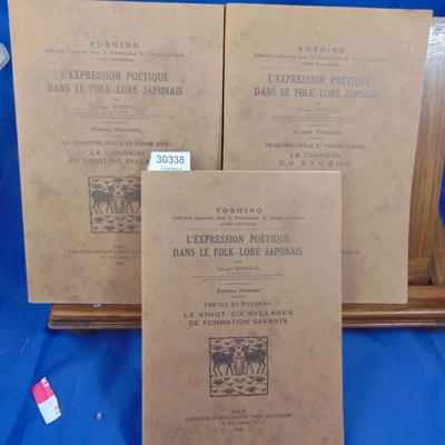 Bonneau Georges : L'expression poetique dans le Folklore Japonais. Vol. 1-2-3...