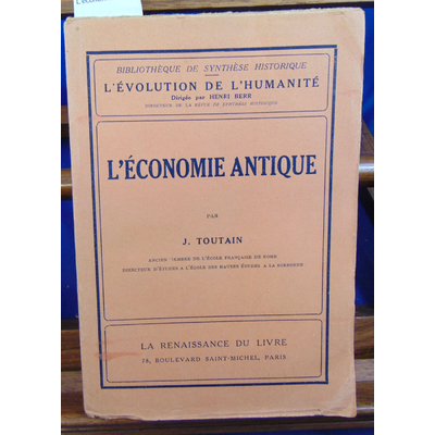 Toutain J : L'économie antique...