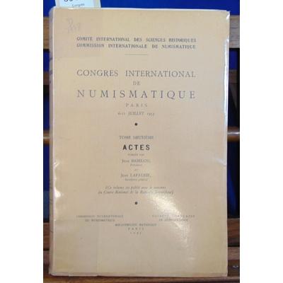 Babelon Jean : Congrès international de numismatique juillet 1953...