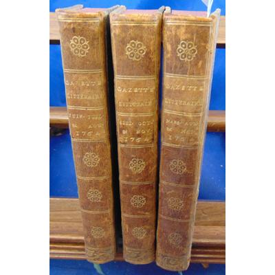 : La gazette littéraire de l'europe. Tome  1 - 2 - 3 ( de Mars à novembre 1764 )...