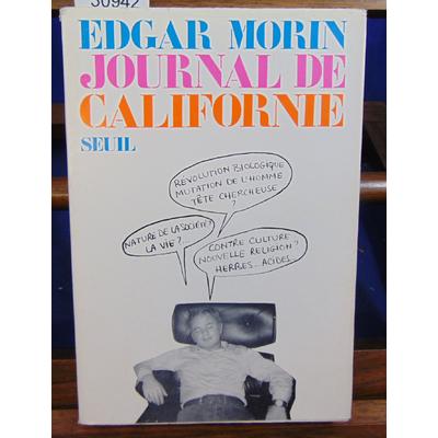 Morin Edgar : Journal de Californie...