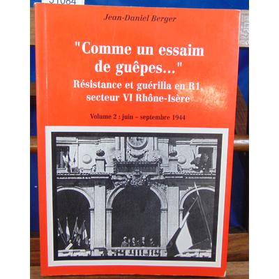 Berger Jean-Daniel : Résistance et guérilla en R1. Volume 2...