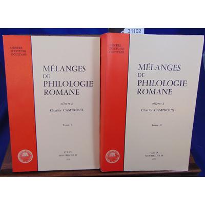 Camproux  : Mélanges de philologie Romane...