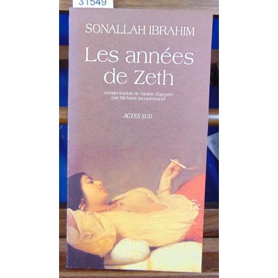 Ibrahim Sonallah : Les années de Zeth...
