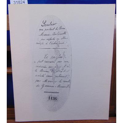 collectif  : Le soulier de Marie Antoinette. Essai muséographique...