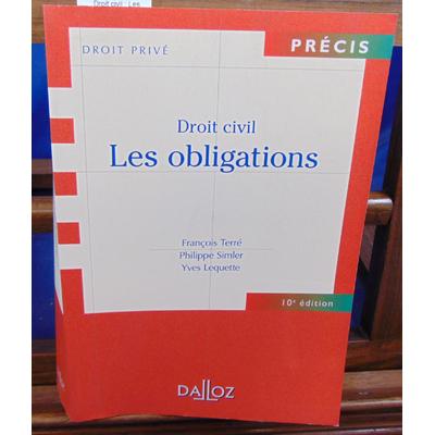 Terré François : Droit civil : Les obligations...