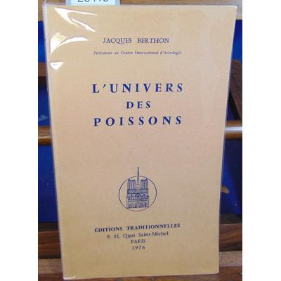 Berthon Jacques : L'UNIVERS DES POISSONS...