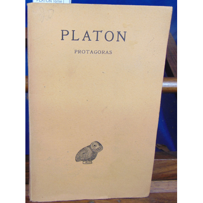 CROISET Alfred : PLATON Tome III 1ere partie protagoras...
