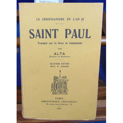 Melinge  : SAINT PAUL le christianisme en l'an 51...