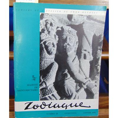 collectif  : Zodiaque N° 28 ,Cahiers de l'atelier du coeur Meutry Janvier 1956...