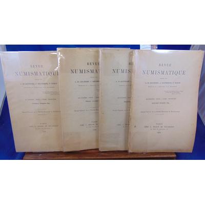 Barthélemy  : Revue numismatique 1899  (complet  des 4 trimestres )...