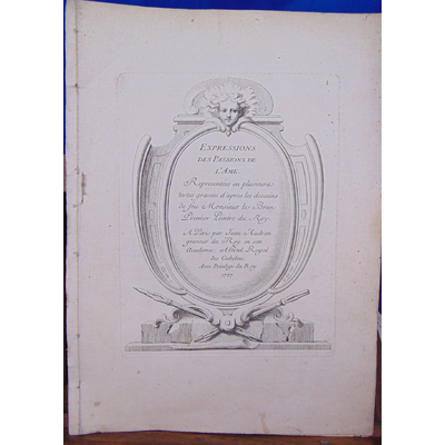 Brun Le : Expressions des Passions de l'Ame.1727,  incomplet 11 gravures sur 19...