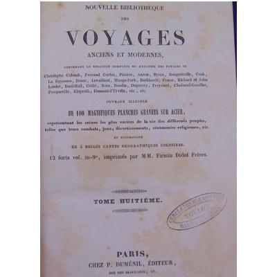 Vaillant  : Voyages en afrique de 1780 -1785. Nouvelle Bibliothèque des voyages Tome 8...