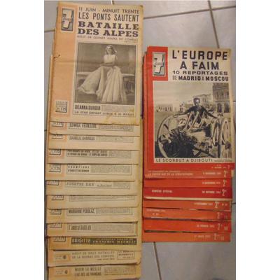 : Lot de 20 Revues :  7 JOURS entre 08/12/1940 et 23/03/1941...