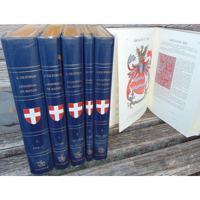 FORAS Amédée de : Armorial et nobiliaire de l'ancien duché de Savoie. 6 volumes...