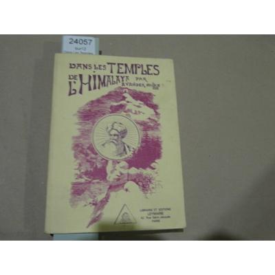 Van Der : Dans Les Temples De L'himalaya...