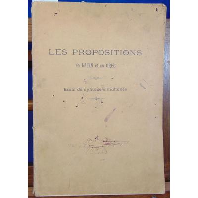 Fressenon J : Syntaxe et propositions  en latin et en grec...
