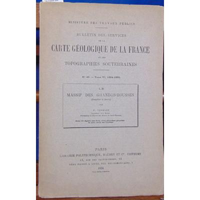 Termier  : Le massif des grandes jorasses (Dauphiné et Savoie)...