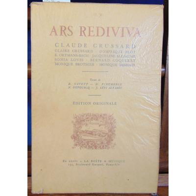 Gavoty et divers : Ars Rediviva 1937 - 1945 Claude Grussard...