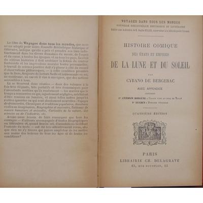 Bergerac Cyrano : Histoire comique des états et empire de la lune et du soleil....