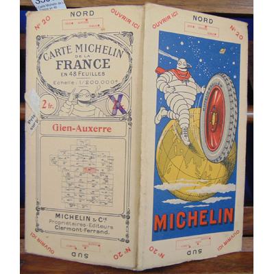 : Carte Michelin de La France en 48 feuilles Gien Auxerre ...
