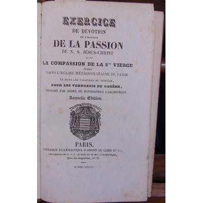 : Exercice de dévotion en l'honneur de la passion...