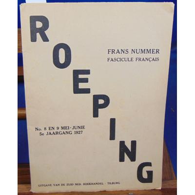 Reverdy Claudel et : Reoping N°8 EN 9 Mei - Junie 1927 Fascicule Français...