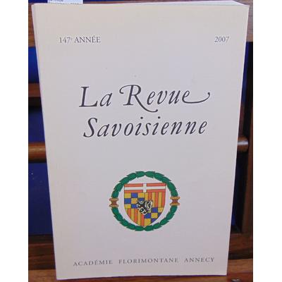 : La revue Savoisienne 2007...
