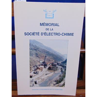 Collectif  : Mémorial de la société d'électro-chimie...