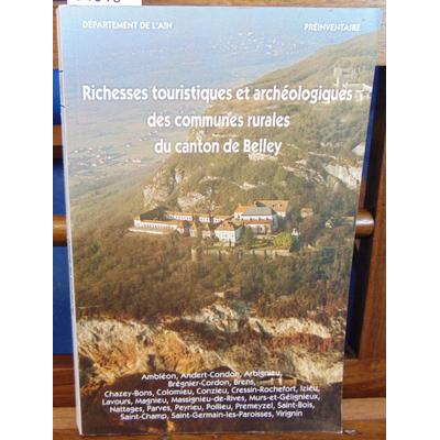 : canton de Belley Richesses touristiques et archéologiques des communes...