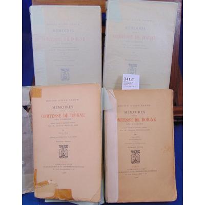 : Mémoires de la Comtesse de Boigne  1904 (complet des 4 vol. )...