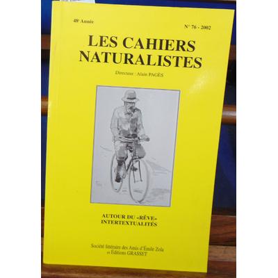 : Cahiers naturalistes n° 76 : Autour du rêve, intertextualités...