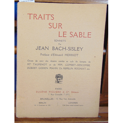 Bach-Sisley  : Traits sur le sable...