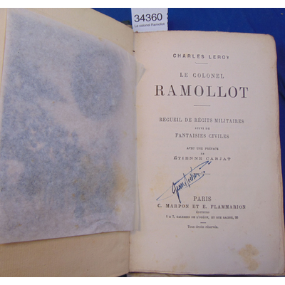Leroy  : Le colonel Ramollot...