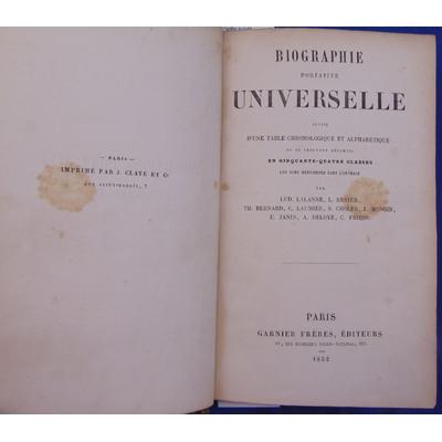 Lalanne  : Biographie portative universelle suivie d'une table chronologique et alphabétique où se trouvent ré