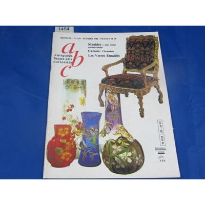 collectif : abc antiquités beaux-arts curiosités N°229 fevrier 1984 : Meubles : une vente contreversée, Cazaux