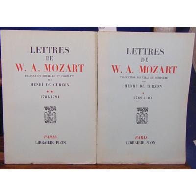 Curzon  : Lettres de W. A. Mozart...