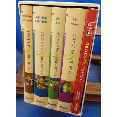 Lagarde  : COFFRET LAGARDE & MICHARD 4 volumes + cd...