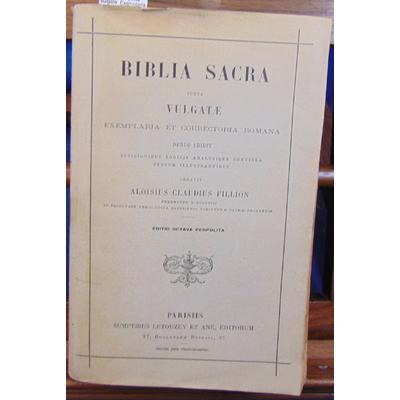 Fillion  : Biblia sacra juxta vulgate. Exemplaria et correctoria romana...