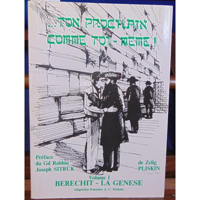 Pliskin  : Berechit  - La genese...