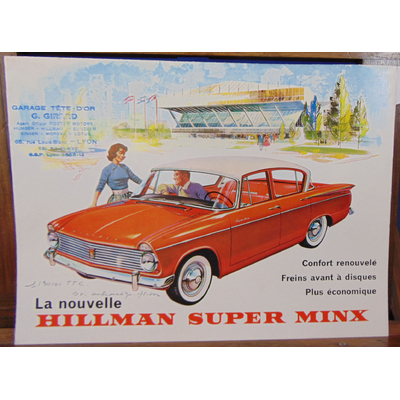 : Brochure Voiture Hillman super minx...