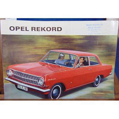: Brochure Opel Rekord...