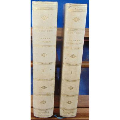 : Mémoires de Madame de Chastenay 1771 1815  (2 vol. )...