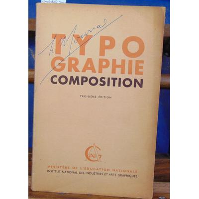 Valette  : Typographie composition : Cours de perfectionnement à l'usage des candidats au certificat d'aptitud