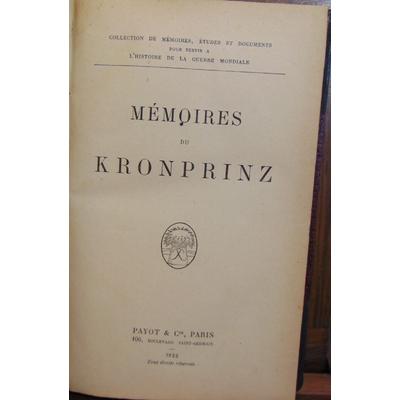 : Mémoires de Kronprinz...