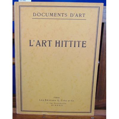 Weber  : L'art Hittite...