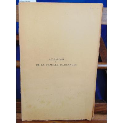 Romanet  : Généalogie de la famille d'Arlanges...