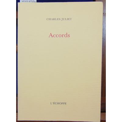 Juliet Charles : Accords. Avec un bel envoi de l'auteur...
